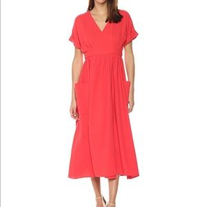 Mara Hoffman Short Sleeve Wrap Ingrid Midi Dress